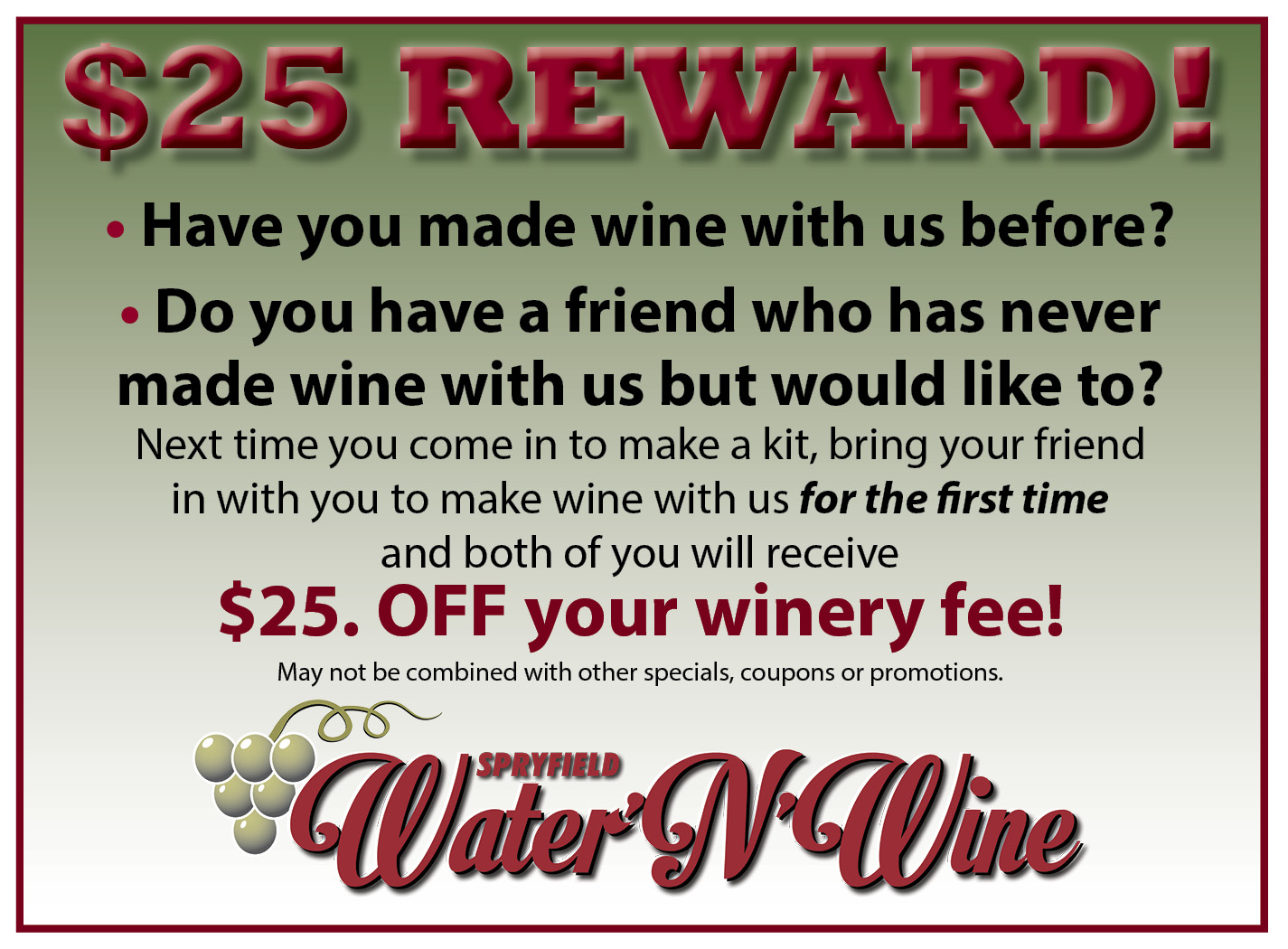 winery fee coupon